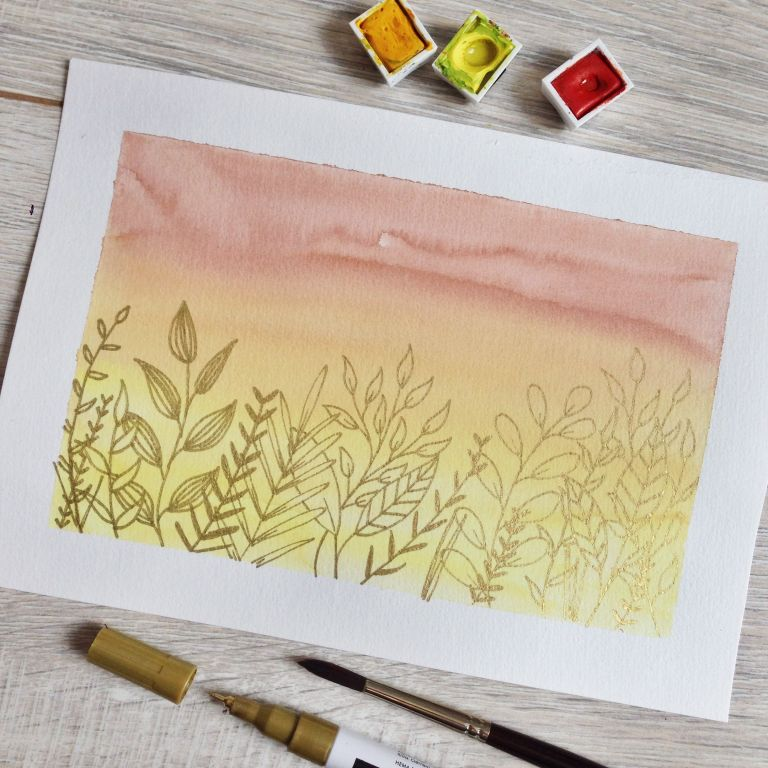 How to start with watercolors
