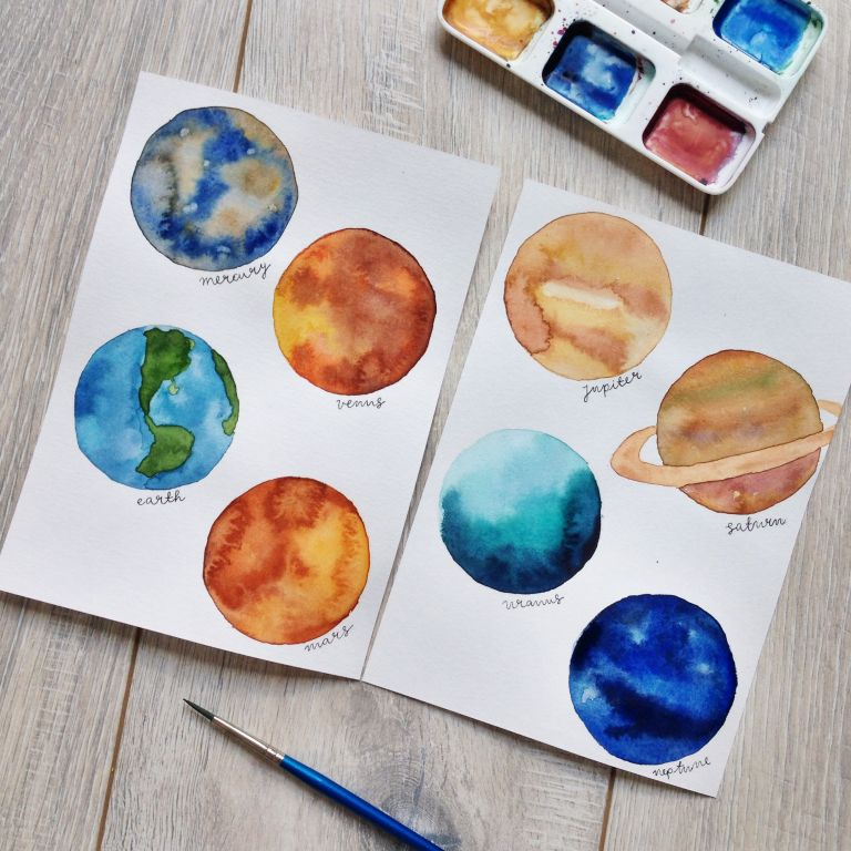 YouTube video: Painting 8 tiny planets